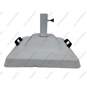 Βάση ομπρέλας τετράγωνη από τσιμέντο για ιστούς Ø48mm - 60kg