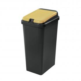 Πλαστικός κάδος ανακύκλωσης Tontarelli Bido 45lt Κίτρινο