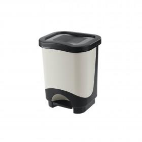 Κάδος απορριμάτων WC με πεντάλ Tontarelli Idea 8lt Μαύρο-Λευκό