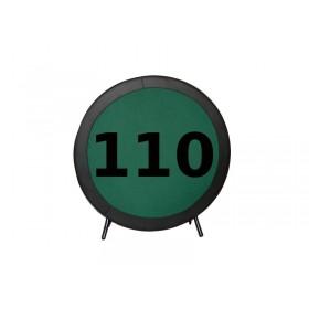 Πτυσσόμενο τραπέζι Poker με επιφάνεια τσόχας και τεχνόδερμα PU περιμετρικά διάσταση Ø110cm