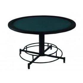 Επαγγελματικό τραπέζι Poker με επιφάνεια τσόχας και τεχνόδερμα PU περιμετρικά διάσταση Ø130cm