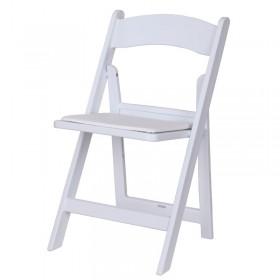 Επαγγελματική πτυσσόμενη καρέκλα πλαστική Wimbledon White