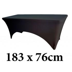 Ελαστικό κάλυμμα Stretch για μακρόστενο τραπέζι 183x76cm Μαύρο