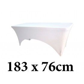 Ελαστικό κάλυμμα Stretch για μακρόστενο τραπέζι 183x76cm Λευκό