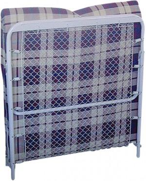 Σπαστό κρεβάτι - Πτυσσόμενο κρεβάτι με σύρμα και στρώμα 6cm - 80x180cm