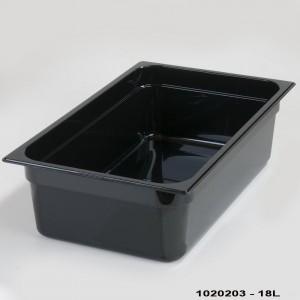 Πλαστικά δοχεία φαγητού Carlisle Top Notch® 1/1GN Black από