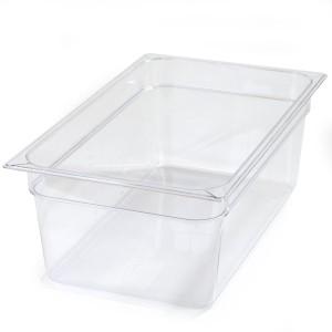 Πλαστικά δοχεία φαγητού Carlisle Top Notch® 1/1GN Clear από