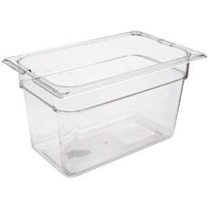 Πλαστικό δοχεία φαγητού Carlisle Top Notch® 1/4GN Clear από