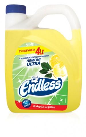 Υγρό γενικού καθαρισμού Endless Ultra Λεμόνι 4L