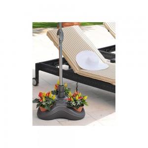 Βάση ομπρέλας νερού πλαστική για ιστούς Ø33-Ø48mm χωρητικότητα 24lt Γκρι