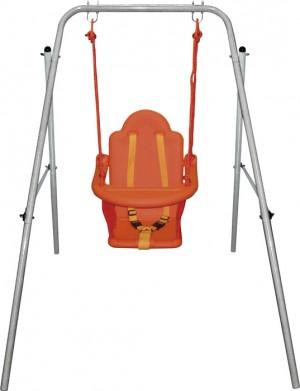 Παιδική κούνια με μεταλλικό σκελετό για μωρά 12599