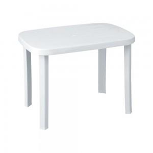 Πλαστικό Τραπέζι φαγητού Romeo 100x70cm Λευκό