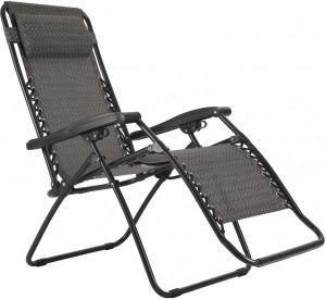 Πτυσσόμενη καρέκλα Relax πολλαπλών θέσεων με ψηλή πλάτη και υποπόδιο Escape
