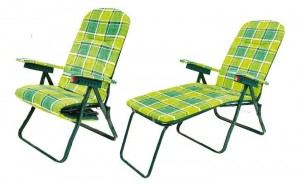 Πτυσσόμενη πολυθρόνα Relax με 6 θέσεις και υποπόδιο Escape 15631