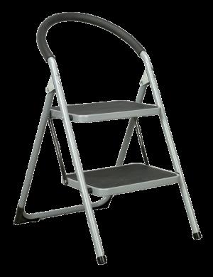 Μεταλλική σκάλα Delux με 2 σκαλιά