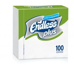 Χαρτοπετσέτες Endless Plus Λευκή 30x30cm
