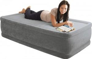 Φουσκωτό στρώμα Μονό με ενσωματωμένη τρόμπα Intex Comfort-Plush Highrise 64412
