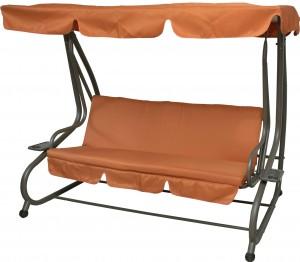 Τριθέσια μεταλλική κούνια κρεβάτι Πορτοκαλί και Ανθρακί