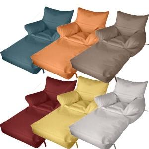 Πολυθρόνα Πουφ Δίας Γίγας Αναδιπλούμενο με Δερματίνη σε 20 χρώματα