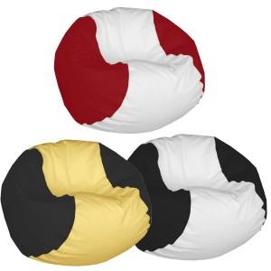 Κάθισμα πουφ σε σχήμα μπάλας Τένις με Δερματίνη από