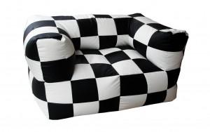Διθέσιος καναπές πουφ Fantasy Σκακιέρα