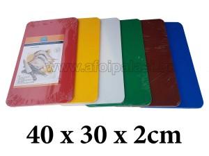 Πλάκα κοπής πολυαιθυλενίου Taurus 40x30x2cm σε 6 χρώματα