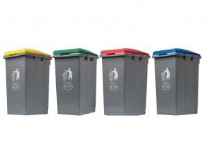Σετ κάδων ανακύκλωσης Ram 4x45lt - 4 χρώματα