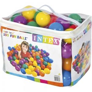 Πολύχρωμες μαλακές μπάλες για παιδότοπους Intex Fun Ballz Ø8cm 49600