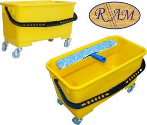 Πλαστικός κουβάς Ram με χειρολαβή 22lt Κίτρινος