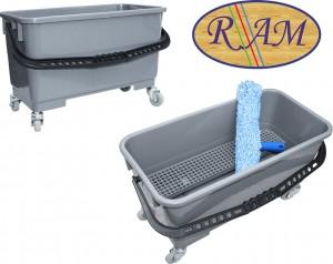Πλαστικός κουβάς Ram με χειρολαβή 22lt Γκρι