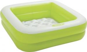 Φουσκωτή παιδική πισίνα 85x85cm Intex Play Box Πράσινη 57100