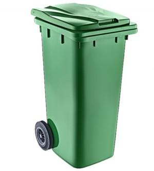 Κάδος απορριμμάτων με ρόδες 120lt Πράσινο