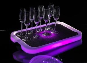 Φωτιζόμενος δίσκος Σερβιρίσματος RGB LED Imagilights Tron Rectangular