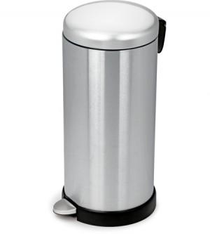 Ανοξείδωτος κάδος απορριμάτων με πεντάλ Ram Satin Inox 30Lt