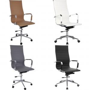 Περιστρεφόμενη Καρέκλα γραφείου με μεταλλικό πόδι και ψηλή πλάτη BF3300