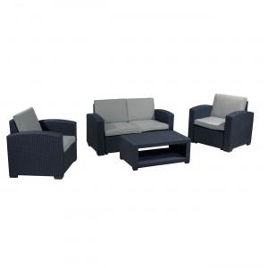 Σαλόνι εξωτερικού χώρου Sierra σετ 4τεμ με 2Θ καναπέ