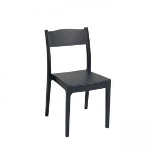 Στοιβαζόμενη πλαστική καρέκλα Areta Vesta Ανθρακί