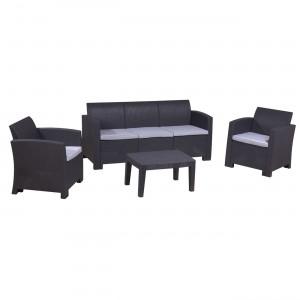 Σαλόνι εξωτερικού χώρου Savvana σετ 4τεμ με 3Θ καναπέ