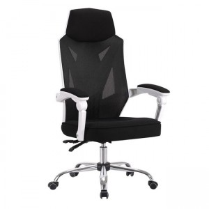 Gaming chair Περιστρεφόμενη Καρέκλα γραφείου BF9450 Μαύρη-Λευκό