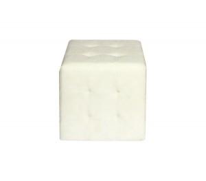 Σκαμπό με PU Cony Λευκό
