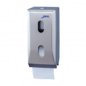 Μεταλλική θήκη οικιακών ρολών υγείας Jofel Clasica Satin inox AF12000