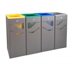 Μεταλλικός κάδος ανακύκλωσης Jofel 160lt AL707050.YGΒG