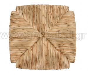 Τετράγωνο κάθισμα τελάρο φυσικής ψάθας 610 με εγκοπές - Διάσταση: 37x37cm