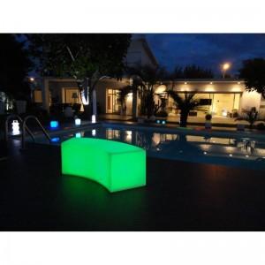 Φωτιζόμενος καναπές με λάμπα LED Lumisky Bench Party C40