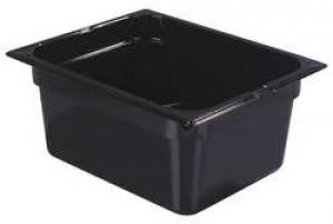Πλαστικά δοχεία φαγητού Carlisle Top Notch® 1/2GN Black από