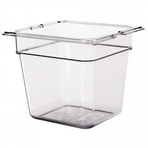 Πλαστικό δοχεία φαγητού Carlisle Top Notch® 1/6GN Clear από