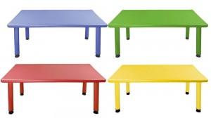 Παιδικό τραπέζι Παραλληλόγραμμο σε 4 χρώματα