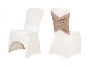 Κάλυμμα πολυτελείας για καρέκλες δεξιώσεων Strech Clementine