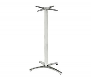 Βάση αλουμινίου για τραπέζι ύψος μπαρ Chrome Bar E012