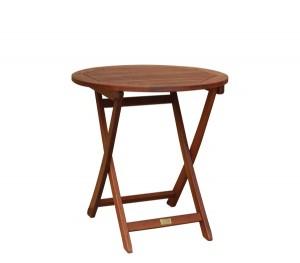 Ξύλινο πτυσσόμενο τραπέζι κήπου Keruing Easy-K Ø70cm